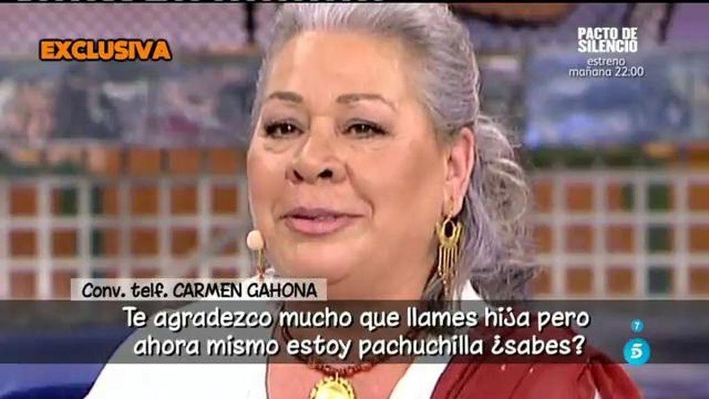 Carmen Gahona ni confirma ni desmiente su ruptura con Chiquete