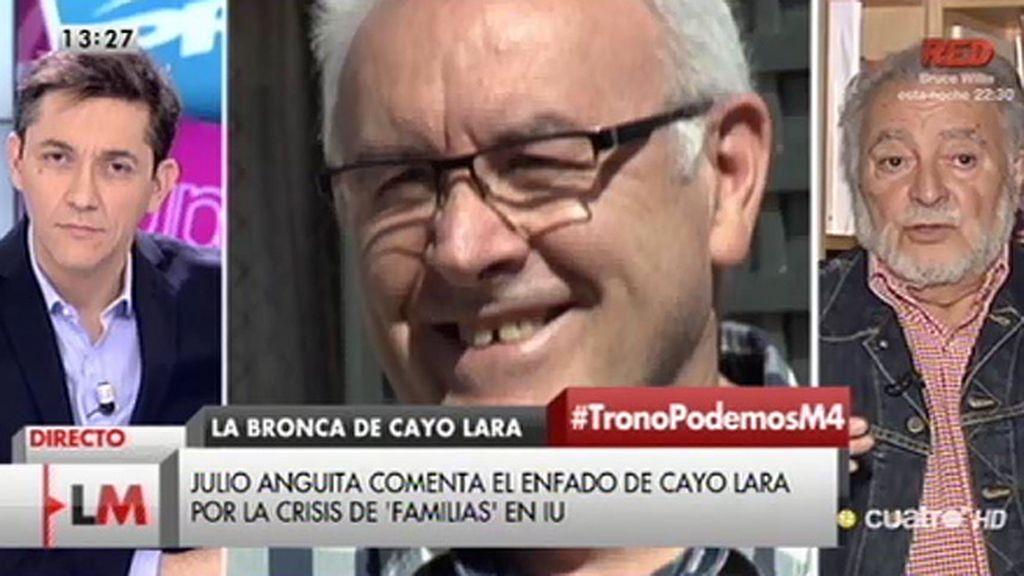 """Julio Anguita: """"Que una persona grabase a Cayo Lara demuestra que hay mala gente en la política"""""""