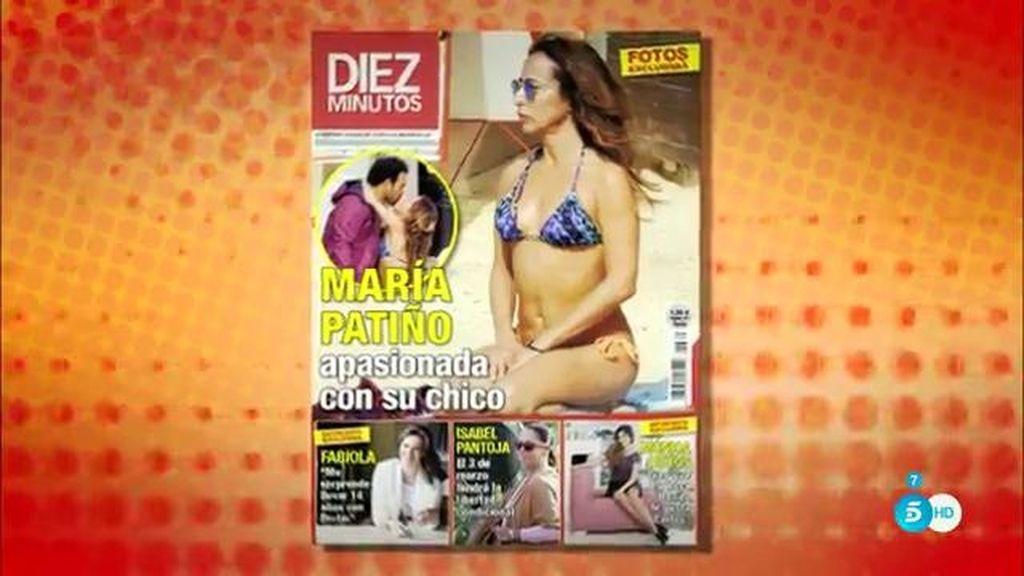 María Patiño, en la portada de 'Diez minutos'