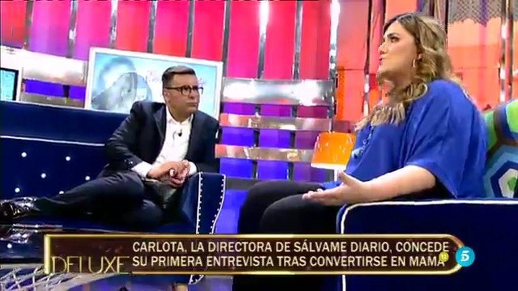 """Carlota Corredera, sobre su embarazo: """"Tras el parto no me encontraba bien físicamente"""""""
