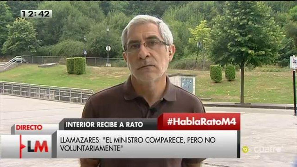 """Llamazares, de la reunión de Rato y Díaz: """"El Ministro está inhabilitado para su tarea"""""""