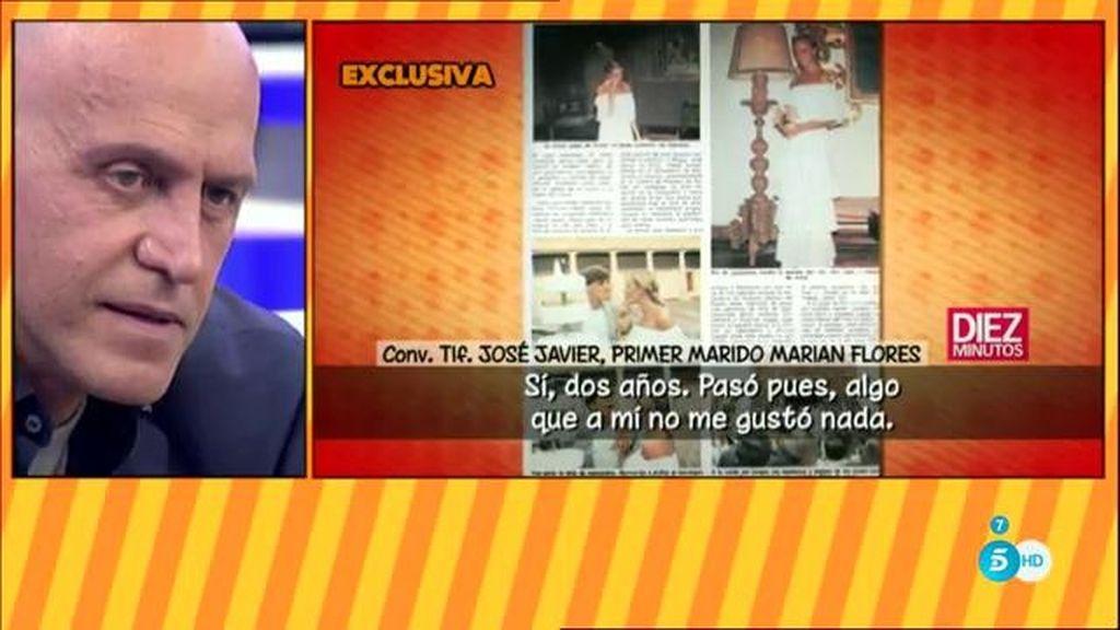 """Javier Ortega, el primer marido de Marian Flores: """"Hubo una tercera persona"""""""