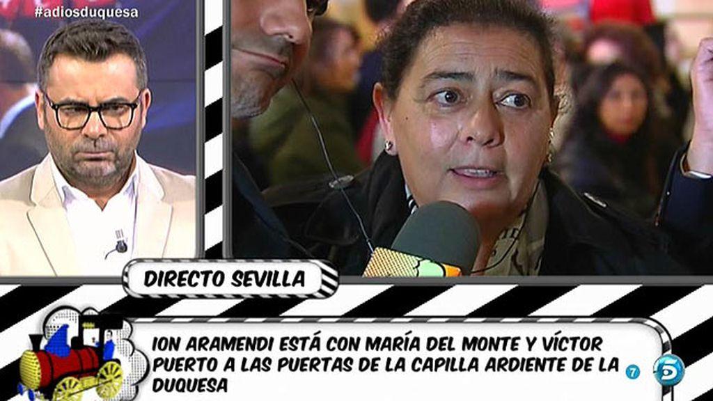 """María del Monte: """"La gente se vuelca cuando quiere y cuando lo siente"""""""