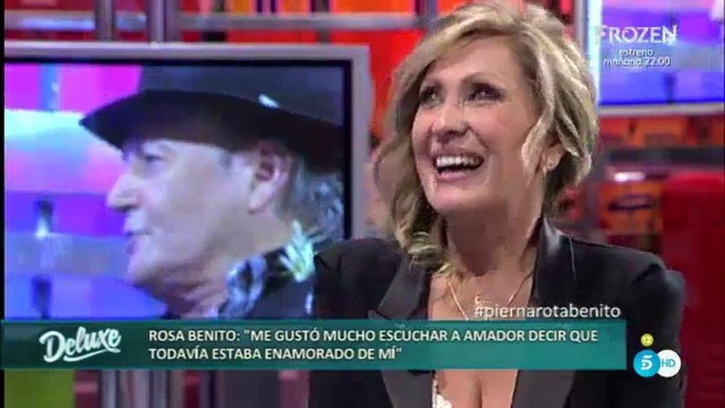 """Rosa Benito: """"No descarto tener algo con Amador, hace mucho que no le veo"""""""