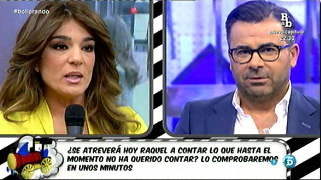 """J.J. Vázquez, a Raquel: """"Tú sabes lo que tienes que hacer, pero no te victimices más"""""""