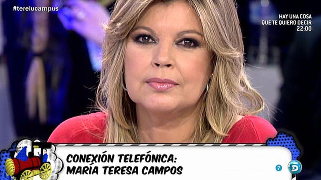 """María Teresa, a Terelu: """"Solo me preocupa que estos disgustos te cuesten la salud"""""""