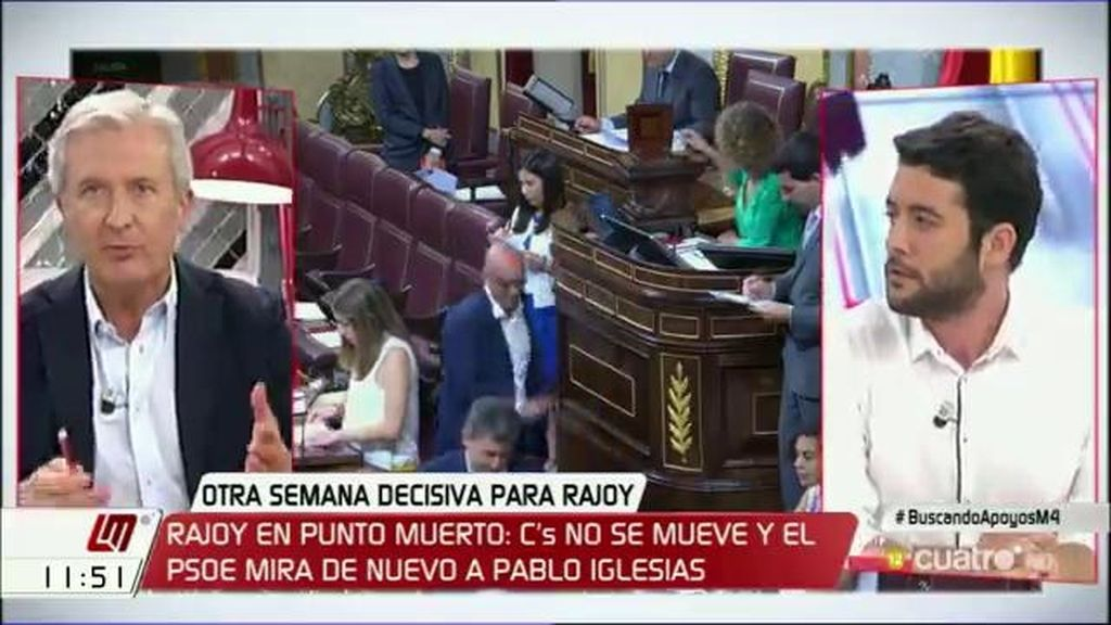 """C. Zafra (C's), a E. del Río (PP): """"Habéis estado secuestrados por las fuerzas nacionalistas"""""""
