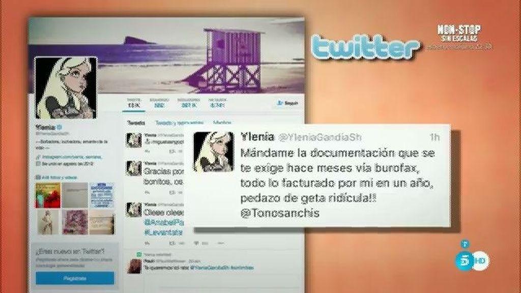 """Ylenia: """"Toño Sanchís, demuestra lo que dicen tus intérpretes"""""""