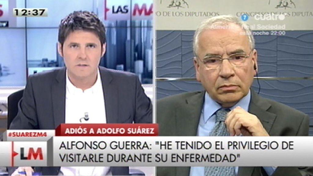 La entrevista a Alfonso Guerra, online
