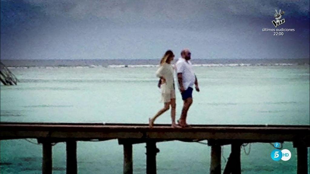 En exclusiva: Las fotos de la luna de miel de Kiko e Irene en Maldivas