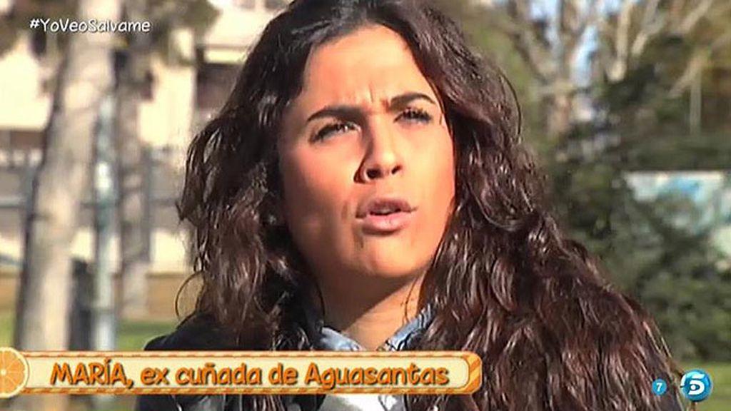 """María, excuñada de Aguasantas: """"Es teatrera y manipuladora"""""""