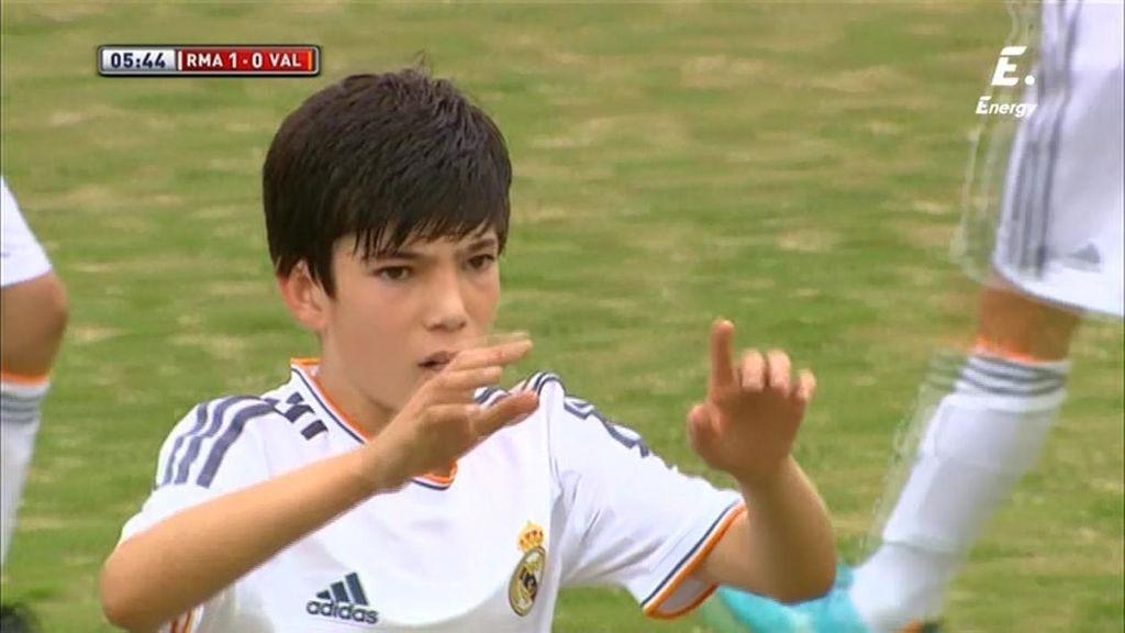 Theo Zidane pone por delante al Real Madrid en la semifinal frente al Valencia