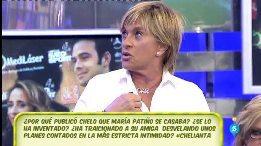 Chelo Gª Cortés niega haber traicionado a María Patiño