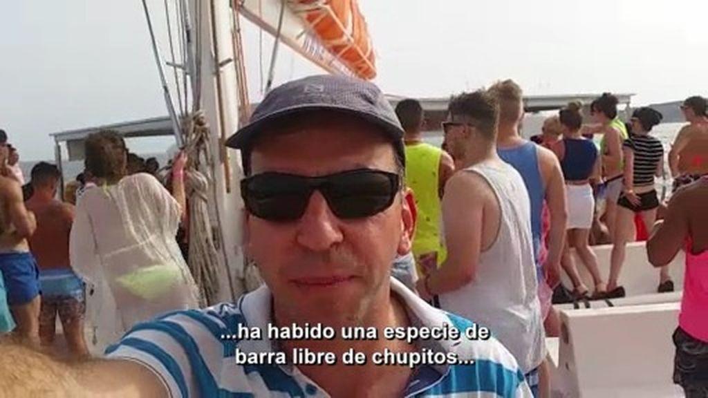 Ruta del desfase: 'Soy noticia' se cuela en una fiesta salvaje en alta mar