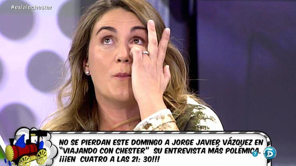 Carlota se emociona recordando cuando Jorge Javier quería abandonar 'Sálvame'