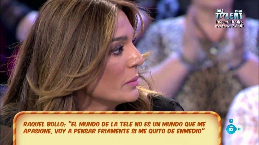 """R. Bollo: """"Si desde la frialdad pienso que soy más feliz sin estar en TV, me quedaré fuera"""""""