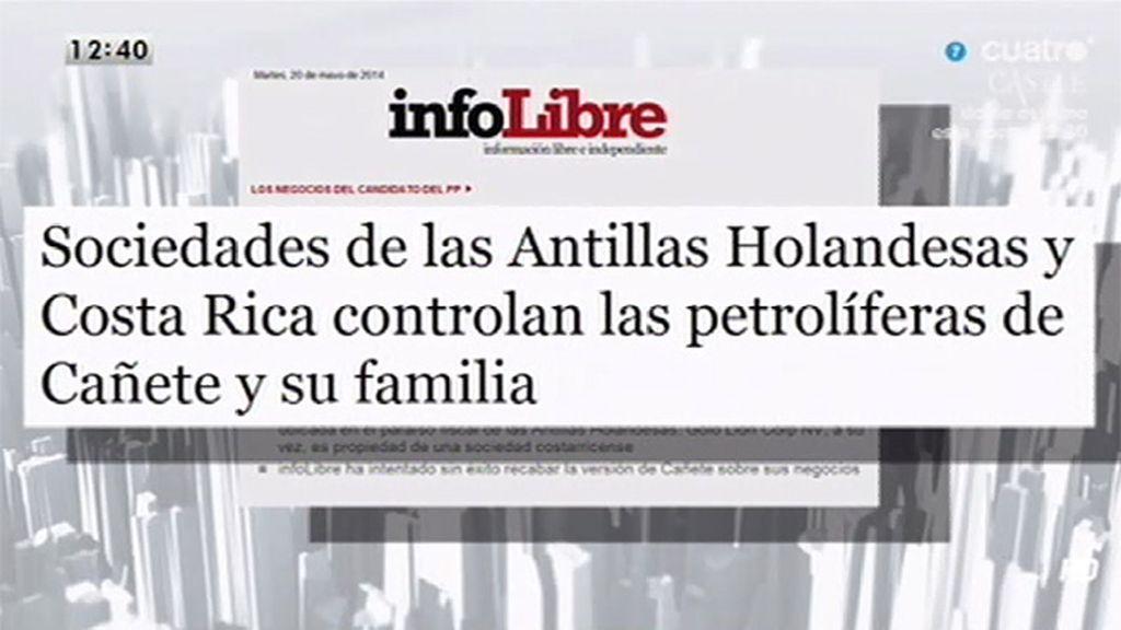 Sociedades de las Antillas Holandesas y Costa Rica controlan las petrolíferas de Cañete y su familia, según Infolibre