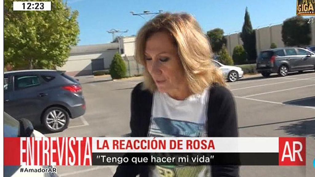 """Rosa, tras la entrevista de Amador en 'Deluxe': """"Tengo que hacer mi vida"""""""