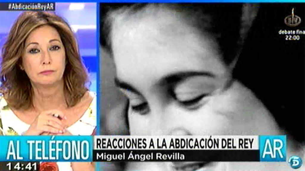 """Miguel Ángel Revilla: """"Creo que no estaba planificado para hoy"""""""