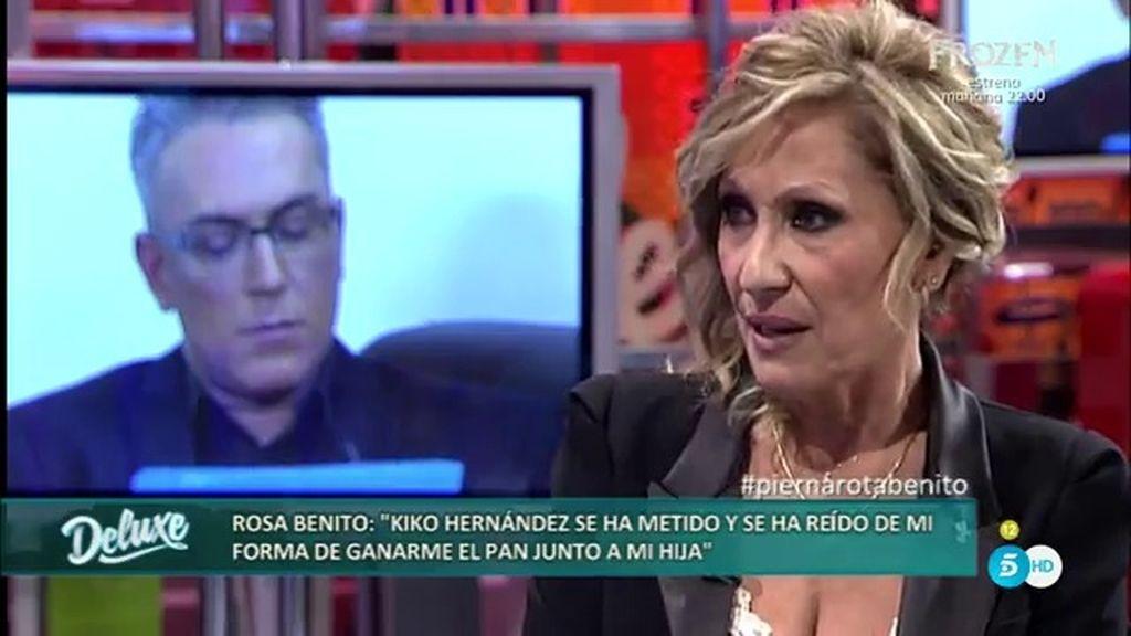 "Rosa Benito: ""Nunca he sido mala compañera, Kiko Hernández lo ha sido conmigo"""