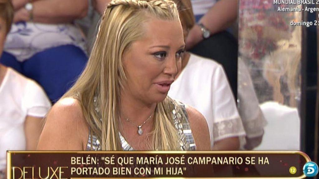 """Belén Esteban: """"María José Campanario se ha portado muy bien con mi hija"""""""