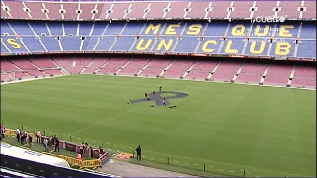 El fútbol, sin colores, apoya el luto del barcelonismo