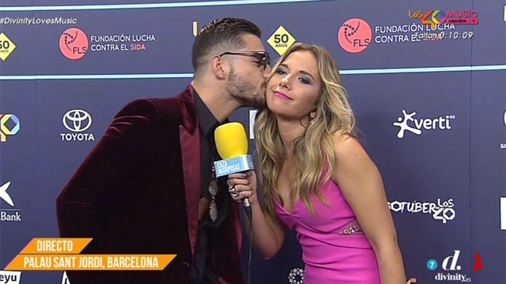 """Maluma, sobre el beso a la exmujer de Melendi: """"Tampoco es que me arrepienta"""""""