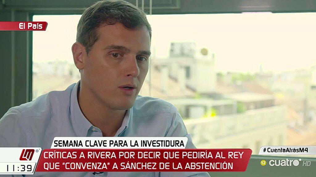 Rivera quiere proponerle a Felipe VI que 'borbonee' para que Rajoy sea presidente