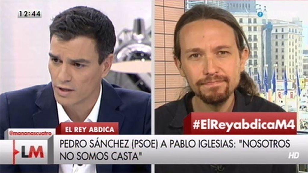 """P. Sánchez (PSOE), a P. Iglesias: """"No vas a venir a darnos lecciones de democracia"""""""