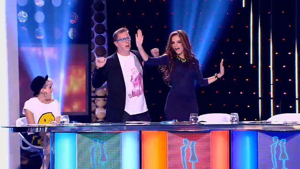 El jurado se pone a bailar la samba tras la actuación de María y Álvaro