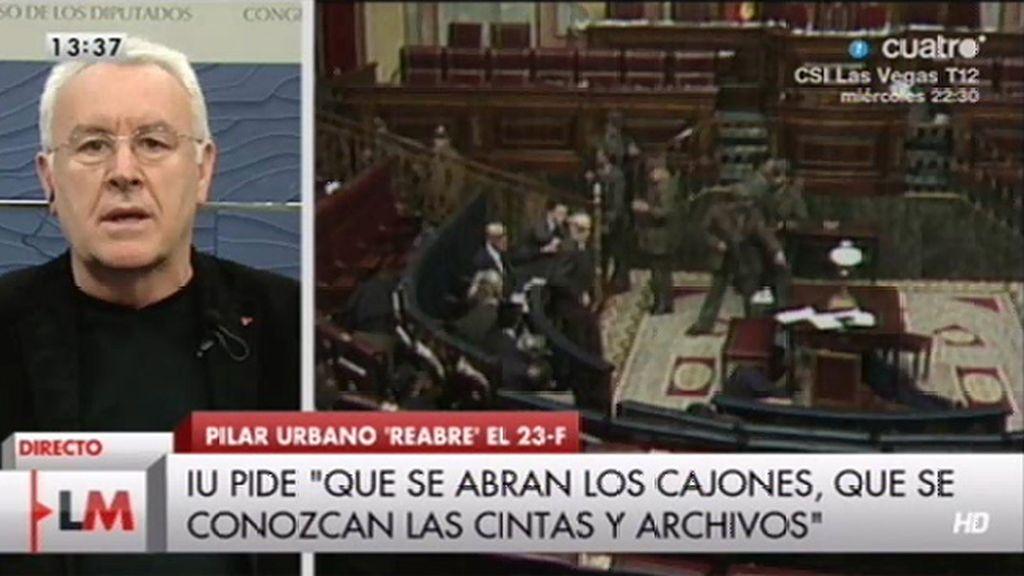 """Cayo Lara: """"Hemos pedido que se desclasifiquen todos los documentos"""""""