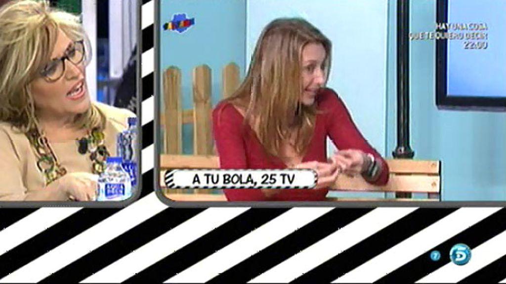 """Lydia le dedica un """"chuminero"""" a Mónica Pont"""