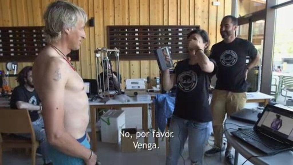 """El escáner 3D de cuerpo entero de Jesús Calleja… ¡En """"pelotillas""""!"""