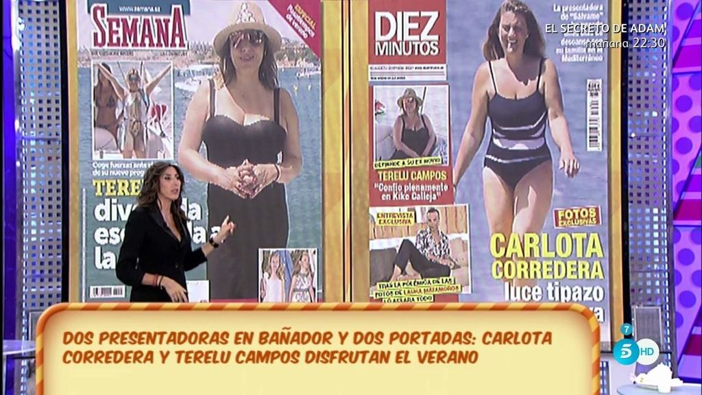 Terelu Campos y Carlota Corredera lucen tipazo de portada