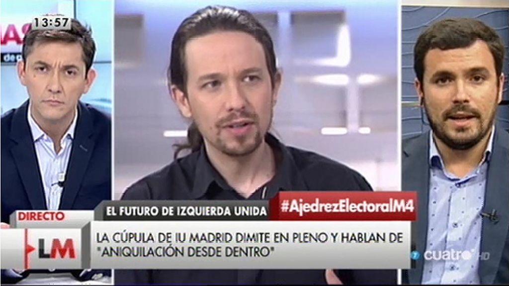 """Alberto Garzón, dispuesto a competir en primarias con Pablo Iglesias para """"crear una candidatura de unidad popular"""""""