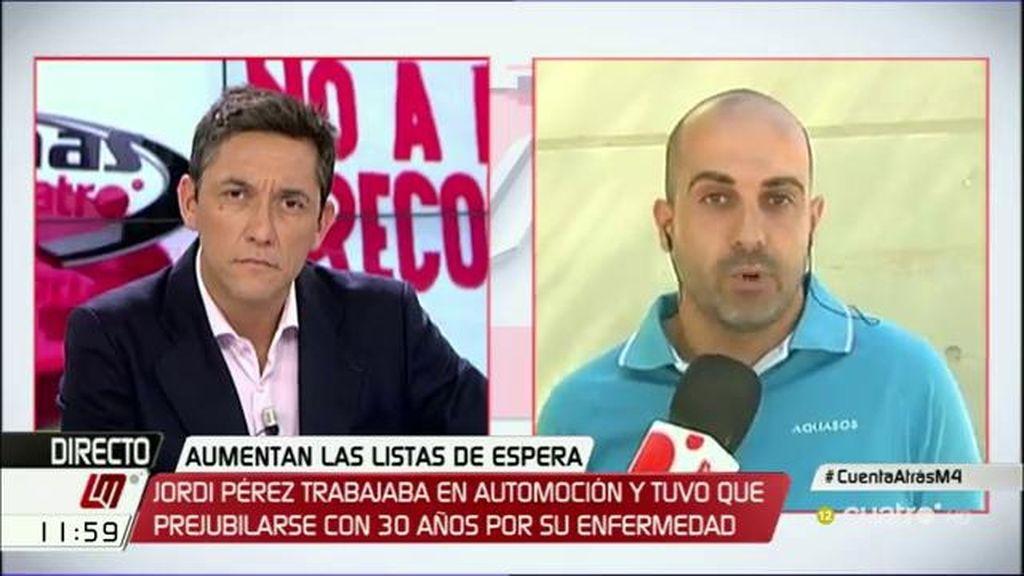 """Jordi: """"No puedo bañar a mis hijos hasta que me operen y tengo 4 años de lista de espera"""""""