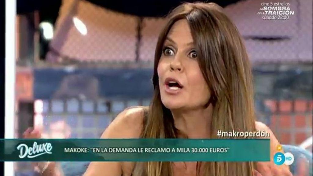 "Makoke: ""He reclamado 30.000 euros a Mila"""