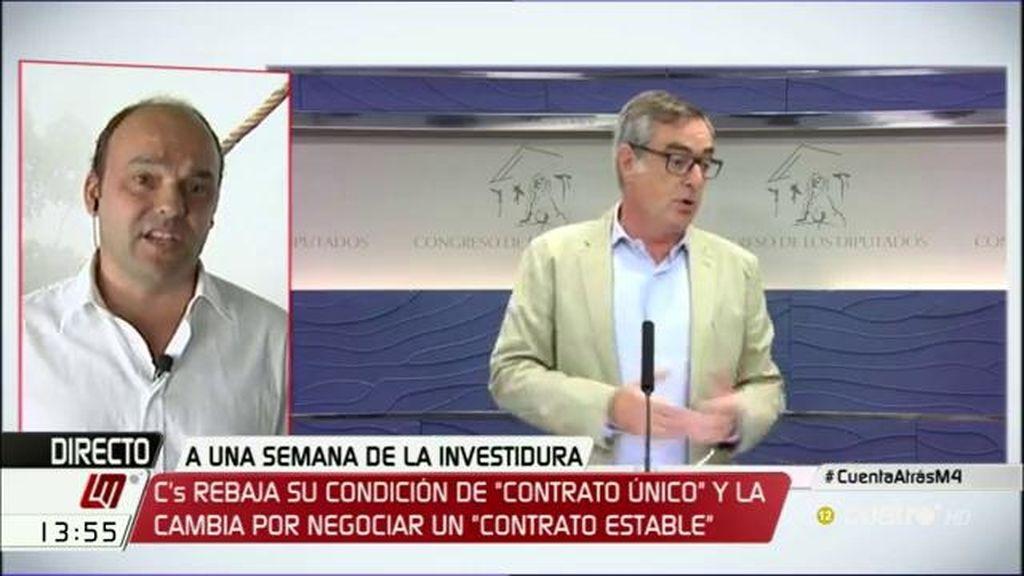 """José Carlos Díez: """"En la próxima legislatura habrá o más impuestos o más recortes"""""""
