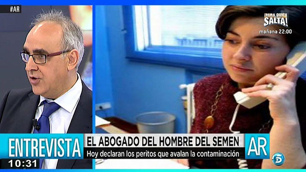 Alberto Martín, abogado del 'hombre del semen' se queja de no estar en las testificales
