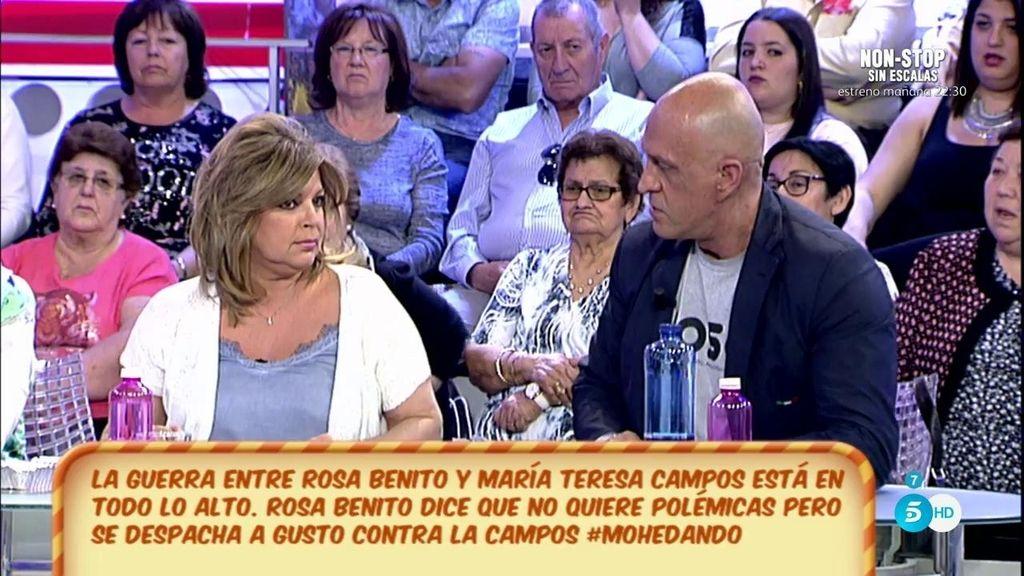"""Terelu Campos, a Kiko M.: """"No te consiento que digas que no defiendo a mi madre"""""""