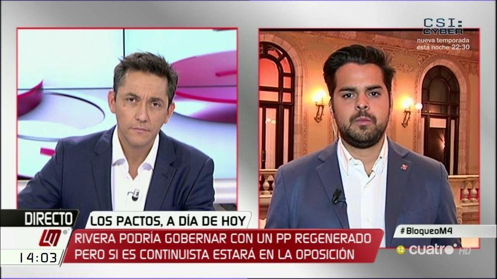"""Fernando de Páramo: """"Los que no somos decisivos hemos decidido mojarnos, solo falta que el PSOE haga lo mismo"""""""