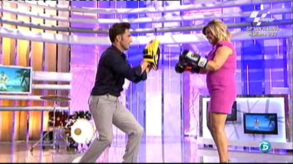 ¡Bustamante boxea con Terelu!