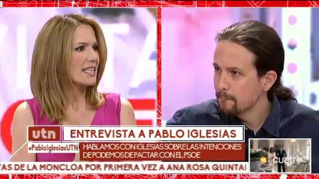 Pablo Iglesias evita hablar de un pacto con el PSOE