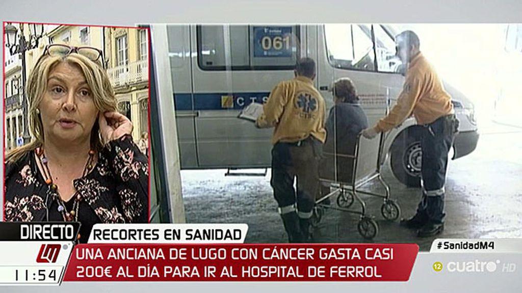 """Teresa: """"Mi madre se gasta 200 euros diarios de taxi para tratarse de un cáncer"""""""
