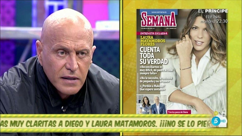 """Laura Matamoros, portada de 'Semana': """"Reconciliarnos es muy difícil, mi padre al final siempre falla"""""""
