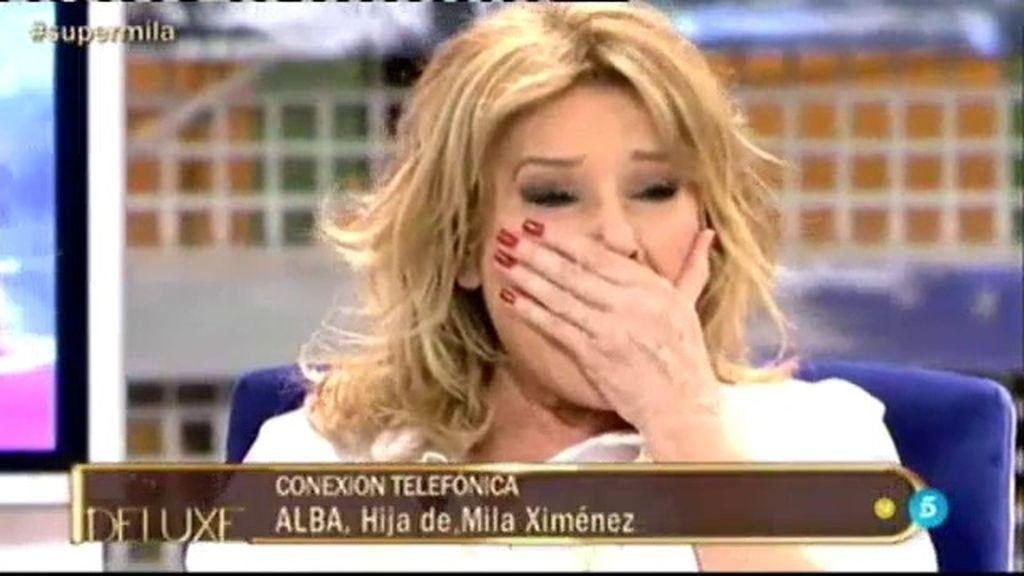 """Alba sorprende en directo a su madre: """"Para mí ya eres una superviviente"""""""