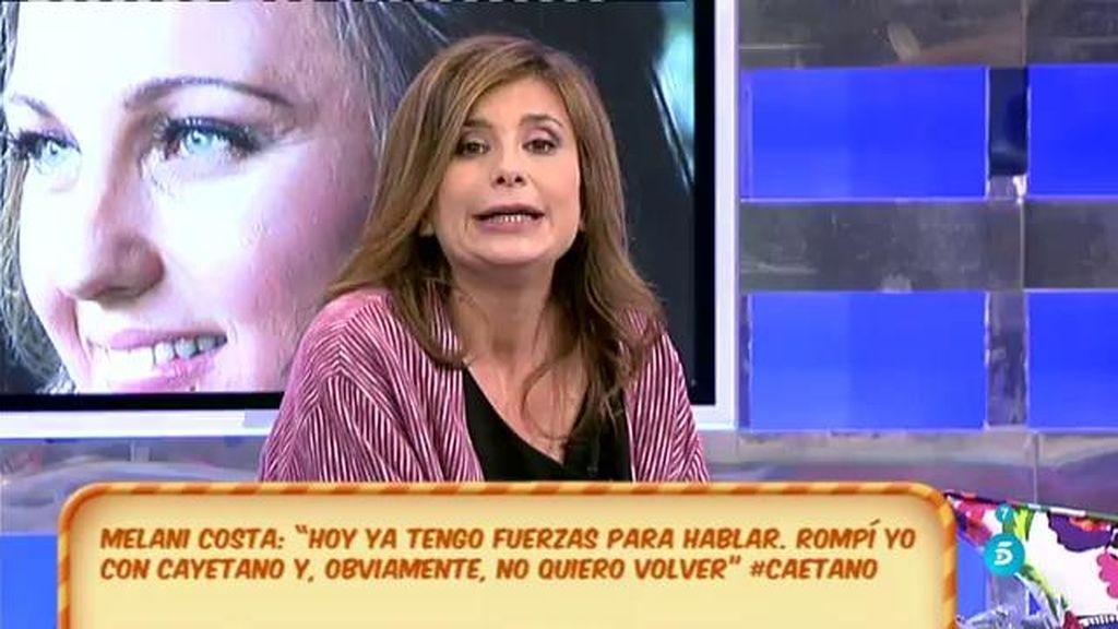 Polémica por la ruputura de Cayetano Martínez de Irujo y Melani Costa