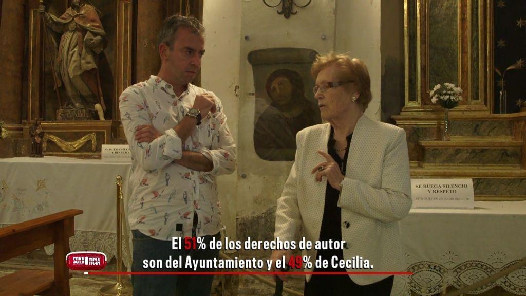 """Cecilia, frente a su 'ecce homo': """"Pobrecico, me da la risa, pero ya no lo veo tan feo"""""""