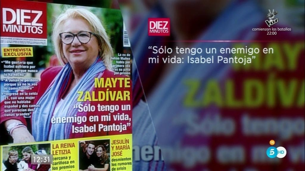 """Mayte Zaldívar: """"Sólo tengo un enemigo en mi vida: Isabel Pantoja"""""""