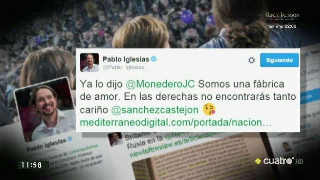 """Iglesias, a Pedro Sánchez en Twitter: """"En las derechas no encontrarás tanto cariño"""""""